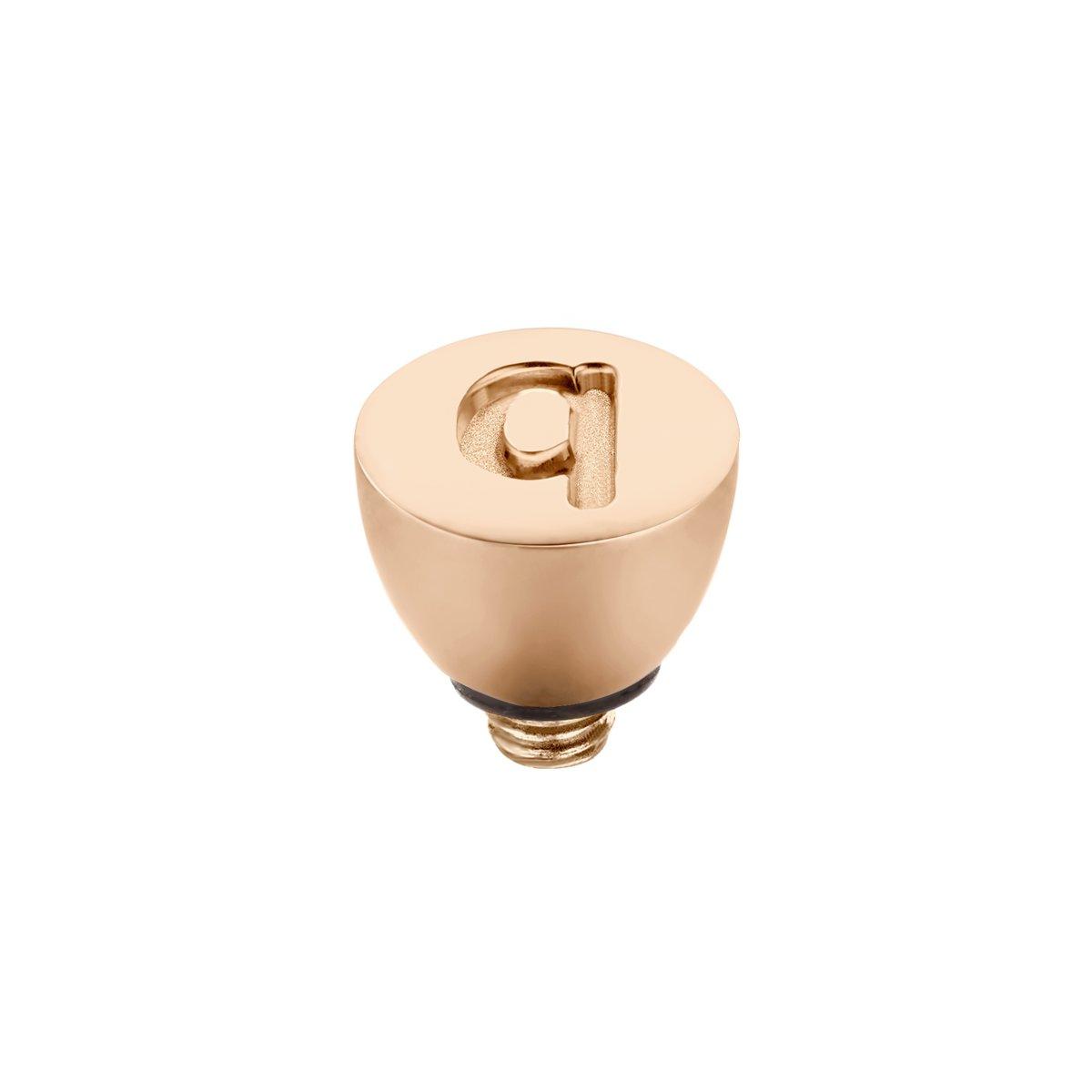 Melano Twisted steentje - letter Q - dames - rosekleurig - 6 mm kopen