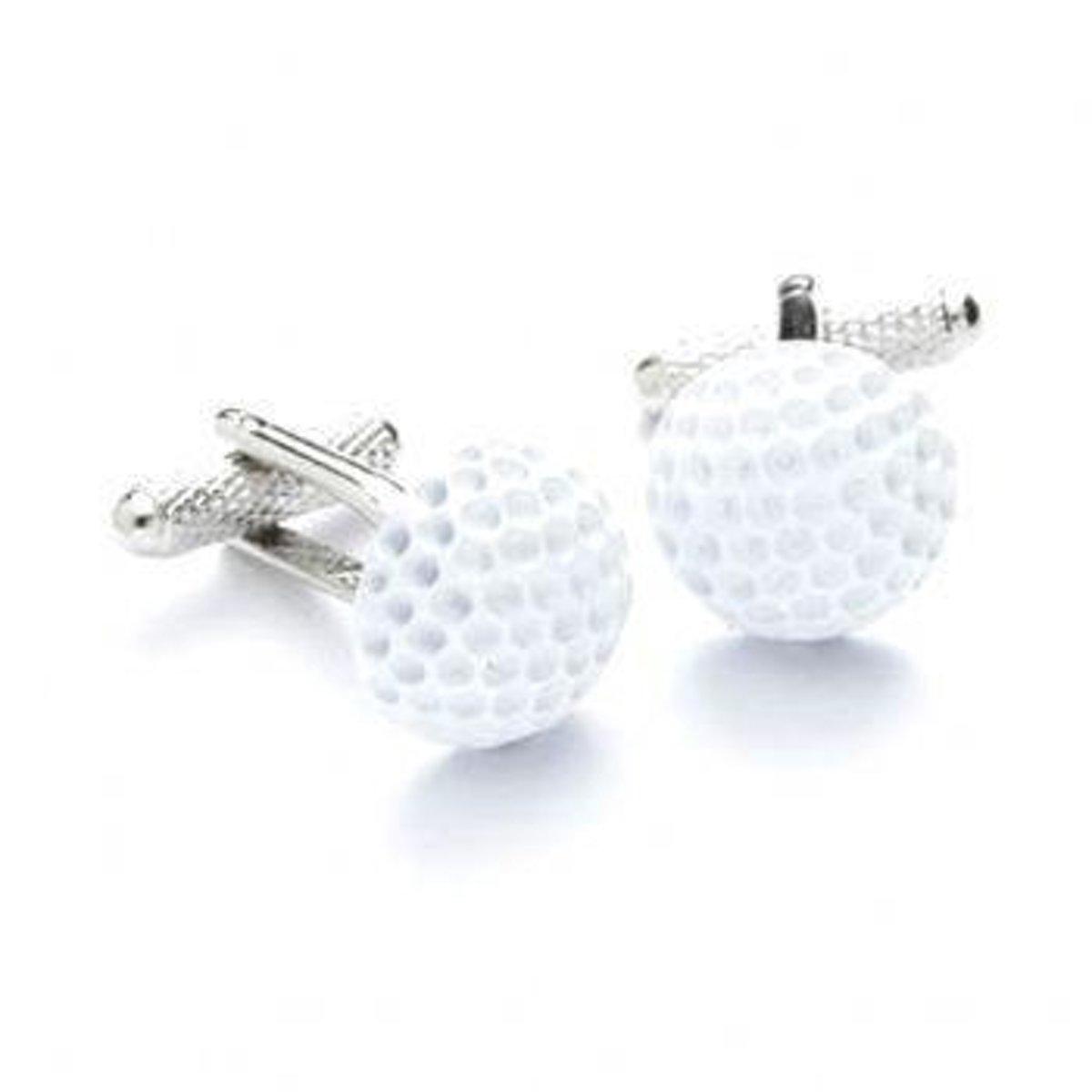 Manchetknopen Witte Golf Bal kopen