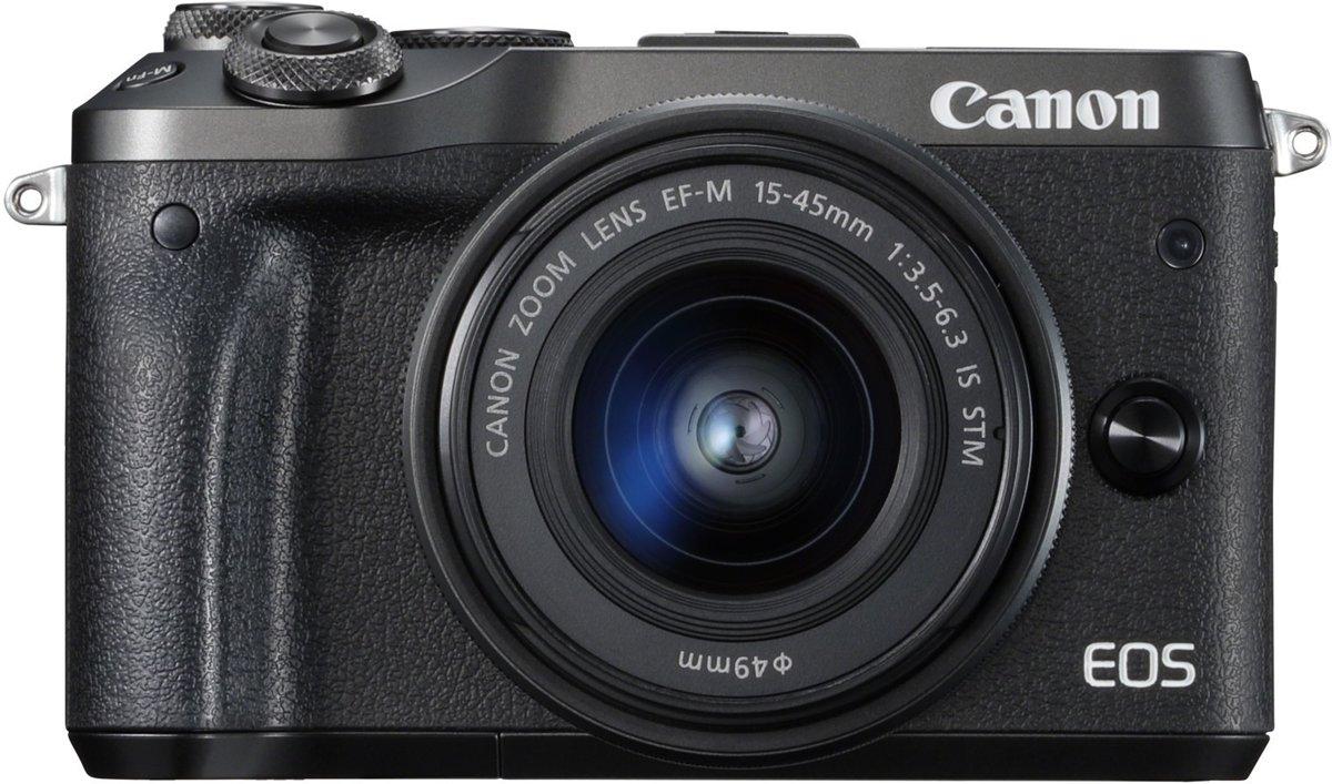 CANON EOS M6 Zwart + 15-45mm f/3.5-6.3 IS STM Zwart kopen