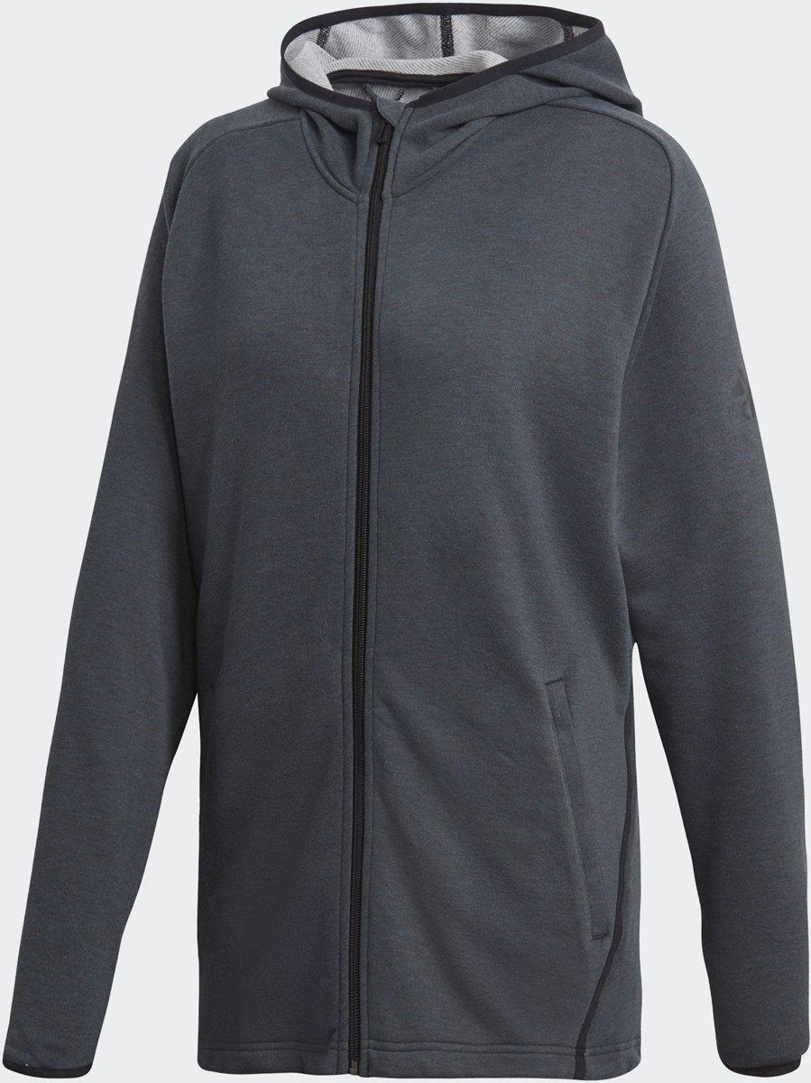 adidas Fleece Prime Hoodie Sportvest Heren - Carbon/black