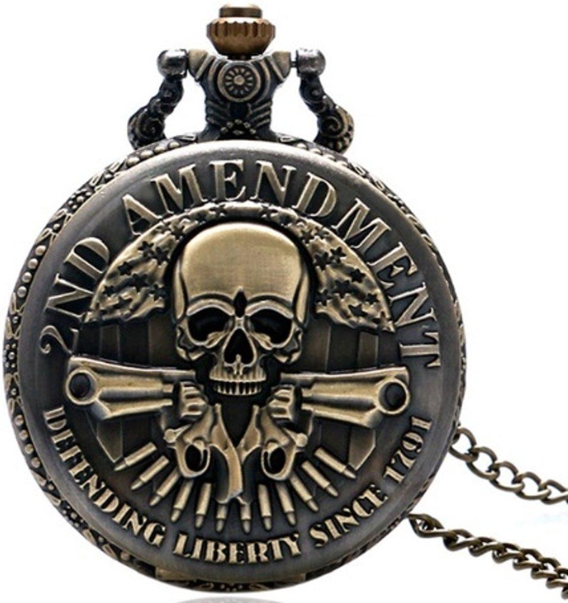 Zakhorloge - 2ND AMENDMENT - brons met ketting #7 kopen