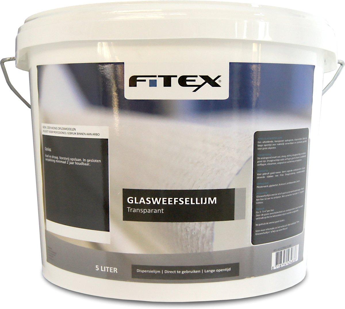 Fitex Glasweefsellijm transparant 5 liter kopen