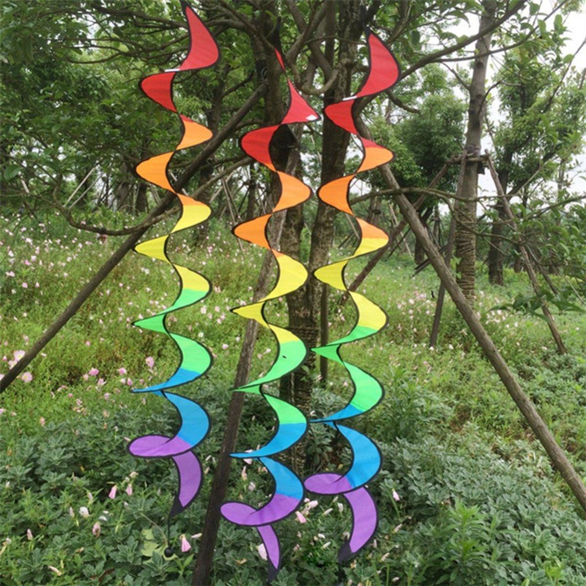 regenboog windspinner | windmolen | met draaibaar ophanghaakje |decoratie | tuin | tent kopen