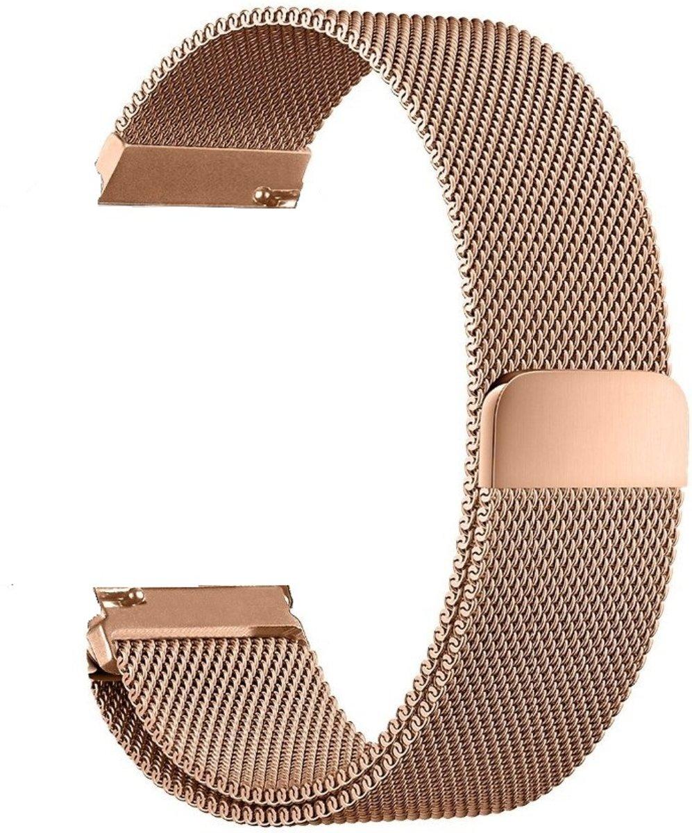 Metalen armband voor Fitbit Blaze frame magneet slot - Kleur - Rosé-goud, Maat - L kopen