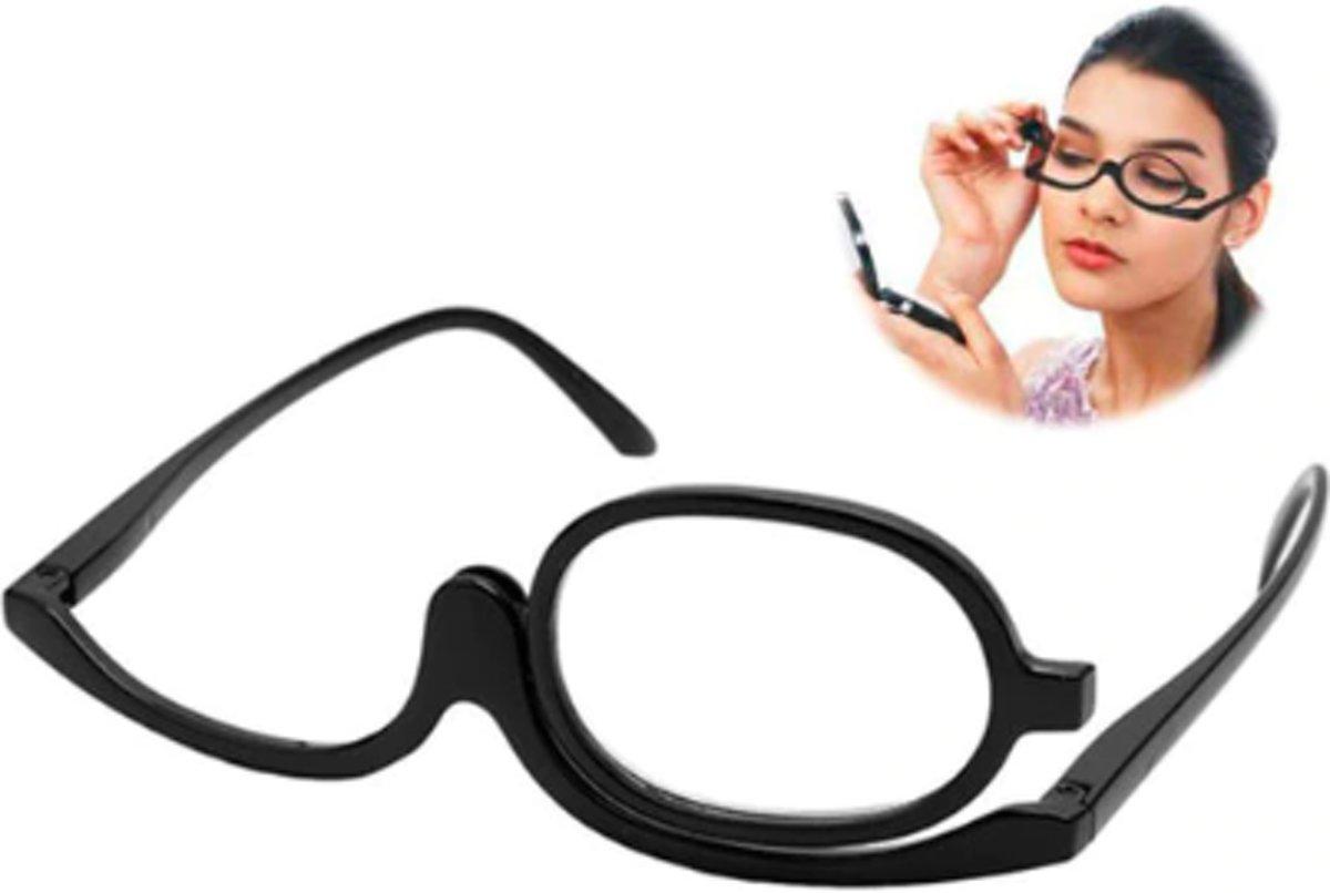 Make up bril opmaakbril leesbril - ideaal voor het opmaken! Roterende bril +4 kopen