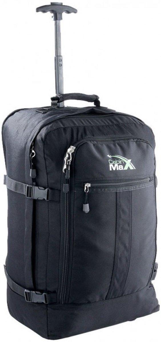 CabinMax Rugzaktrolley - Handbagage -  55x40x20 cm - Lyon - Zwart   (LYON BK) kopen