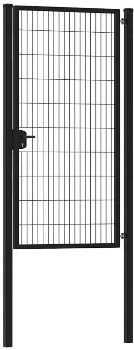 Enkele tuinpoort 100 x 200 cm (bxh) Zwart RAL9005 premium kopen