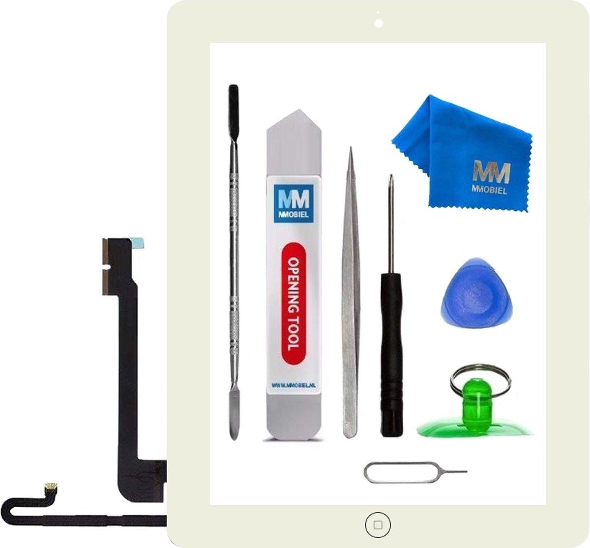 MMOBIEL Wit digitizer voor Apple iPad 4 touchscreen glas inclusief voorgemonteerde home button en camera lens houder. Nu met voorgemonteerd dubbelzijdig tape, frame bezel, een professionele toolkit en een stap voor stap handleiding. kopen