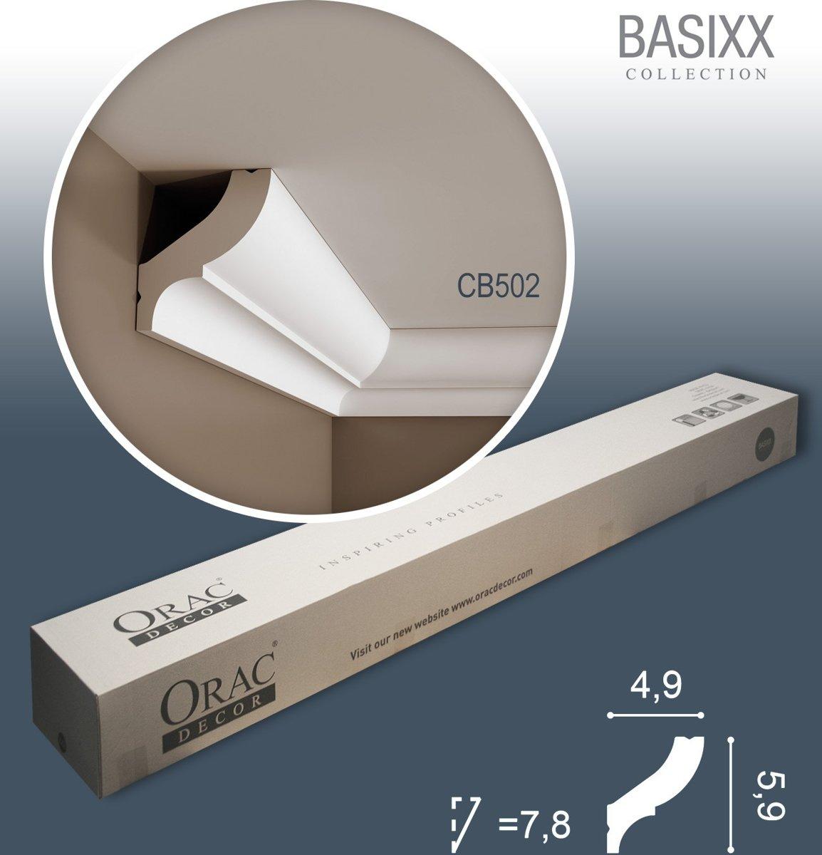 1 doos 27 Kroonlijsten Origineel Orac Decor CB502 BASIXX Plafondlijsten Sierlijsten 54 m kopen