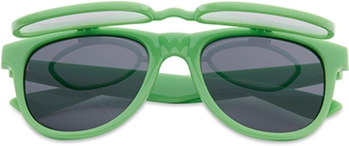 Flipstyle spacebril groen | zonnebril met effect kopen