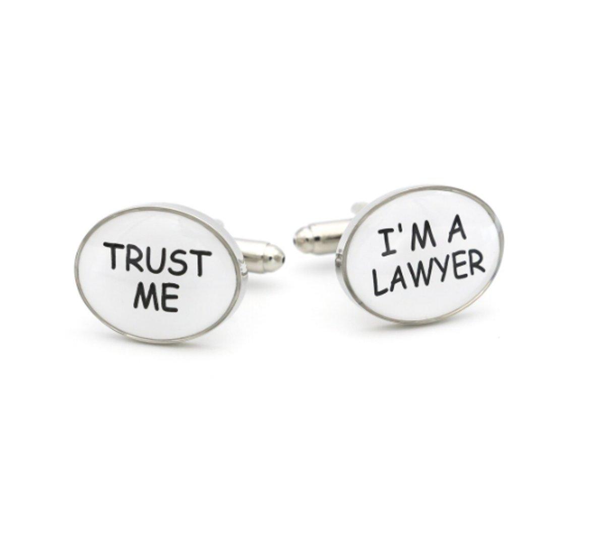 Treasure Trove® Advocaat Manchetknopen I'm a lawyer, trust me - Heren - Dames - ovaal kopen