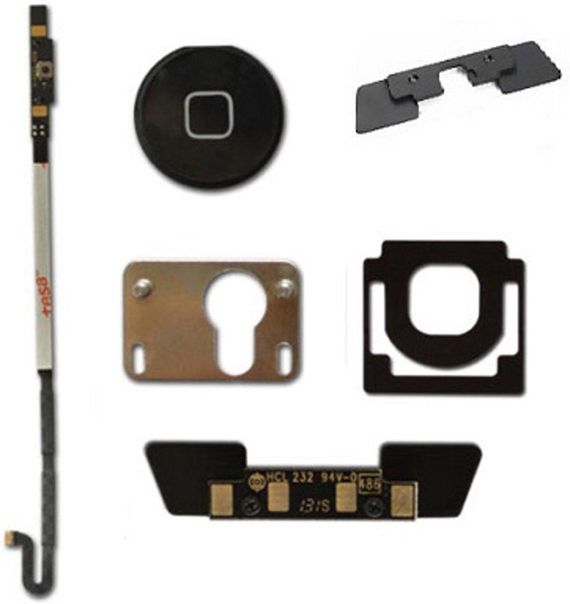 complete homebutton set voor ipad 4 -zwart - compleet kopen