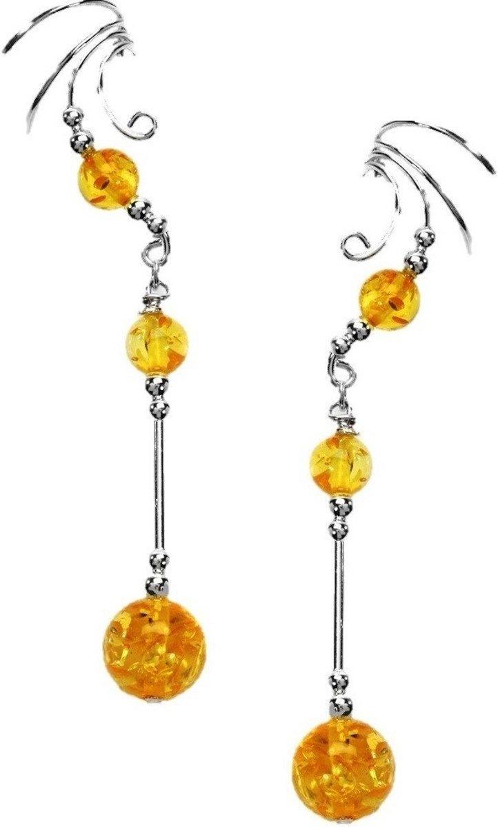 EarCatchers ear cuff met amber - 925 sterling zilver - set kopen