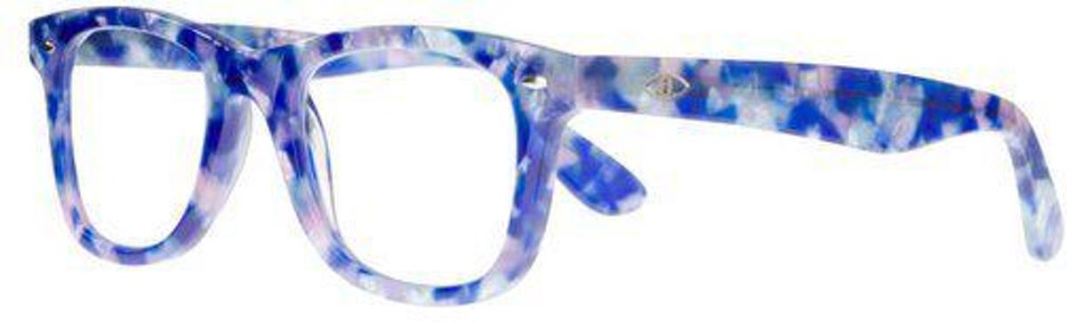 Icon Eyewear KCE800 Goldline Leesbril +1.50 - Blauw gemeleerd - Acetaat kopen