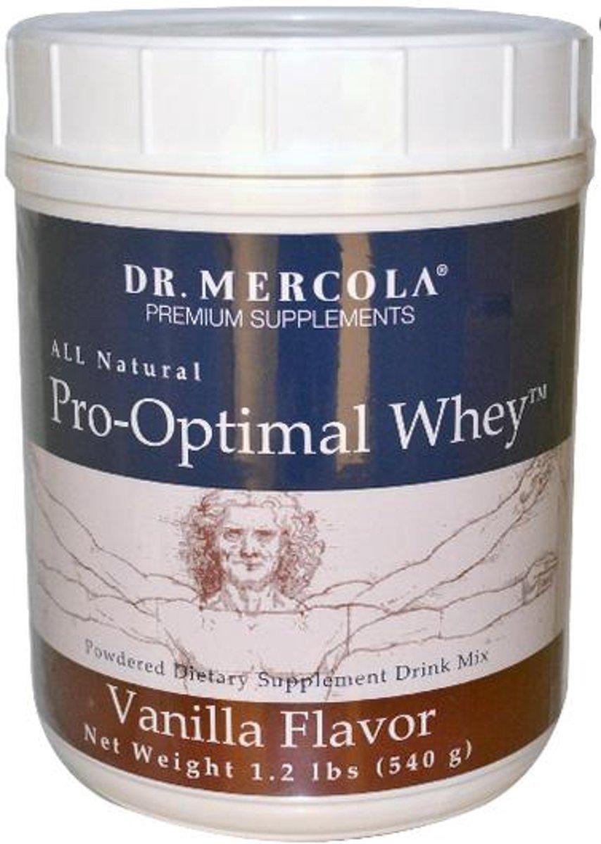 Pro-optimal whey, vanille smaak (540 g) - Dr Mercola kopen