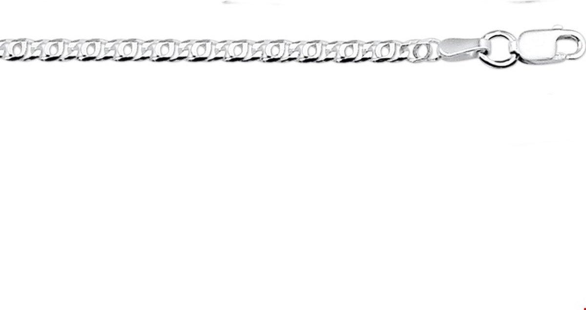 Robimex Collection Enkelbandje 24 met 2 cm extensie cm - Zilver kopen