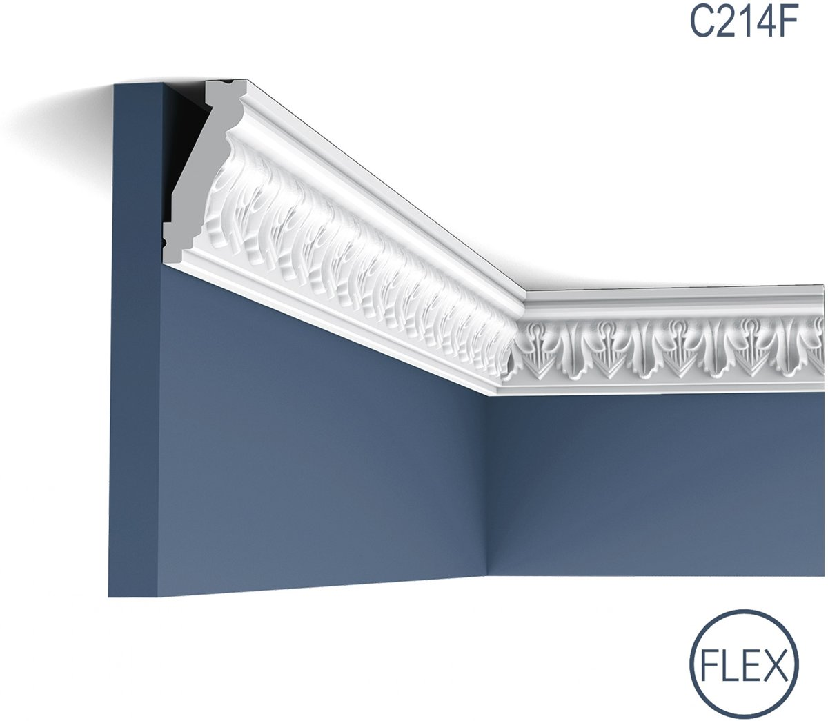 Kroonlijst flexibel Origineel Orac Decor C214F LUXXUS Plafondlijst Sierlijst flexibel 2 m kopen