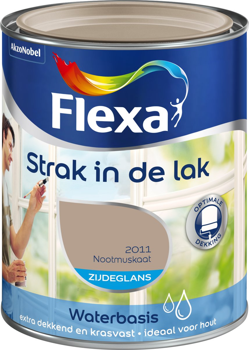 Flexa Strak in de Lak Watergedragen Zijdeglans Nootmuskaat 750 ML