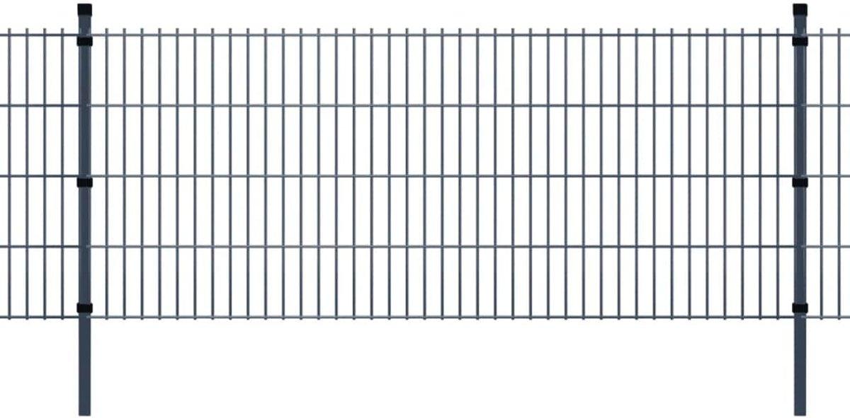 vidaXL Dubbelstaafmat 2008 x 1830 mm 6 m grijs 3 stuks kopen