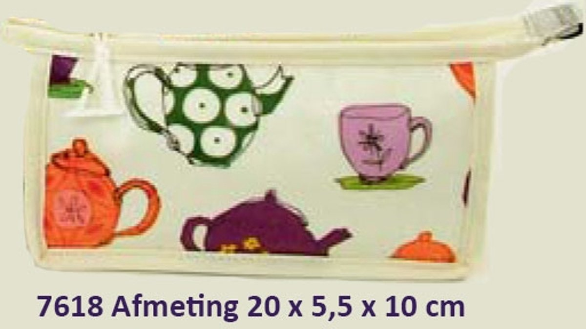 "Vagabond-Toilet-& Make-up tasje-""Tea Time"" 7618-afmeting 20 x 5,5 x 10 cm kopen"