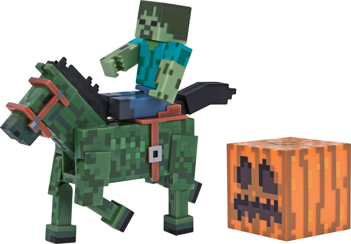 MINECRAFT - Zombie with Zombie Horse