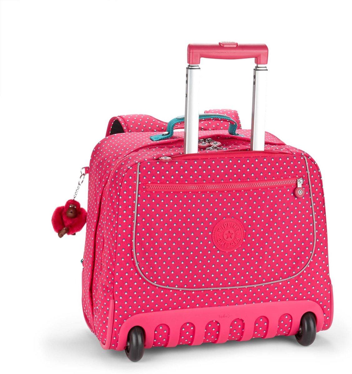 Kipling Clas Dallin - Rugzaktrolley - Pink Summer Pop kopen