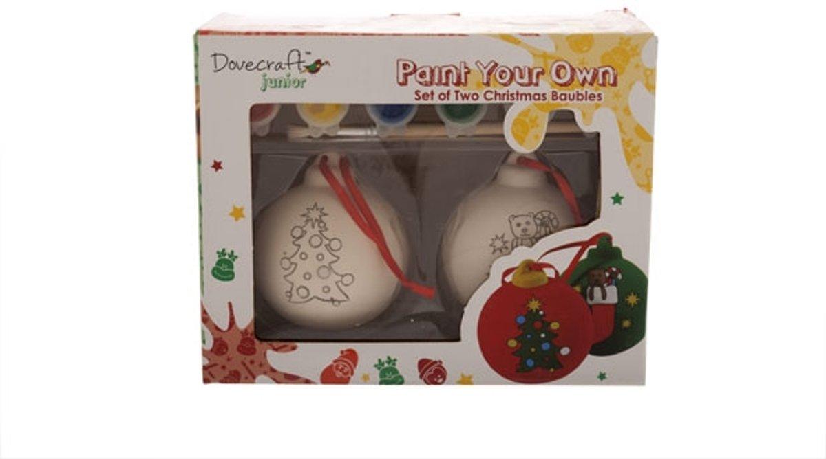 Cosy&Trendy Verf je eigen kerstbal Ø 6 cm - incl 6 kleuren verf - Set-2 kopen