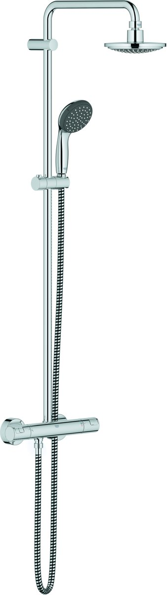 GROHE Vitalio Start Douchesysteem - Regendouche ø 16 cm - Inclusief thermostaatkraan - 15 cm hartafstand kopen