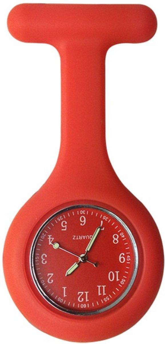 Fako Bijoux® - Verpleegstershorloge - Siliconen Deluxe - Rood kopen