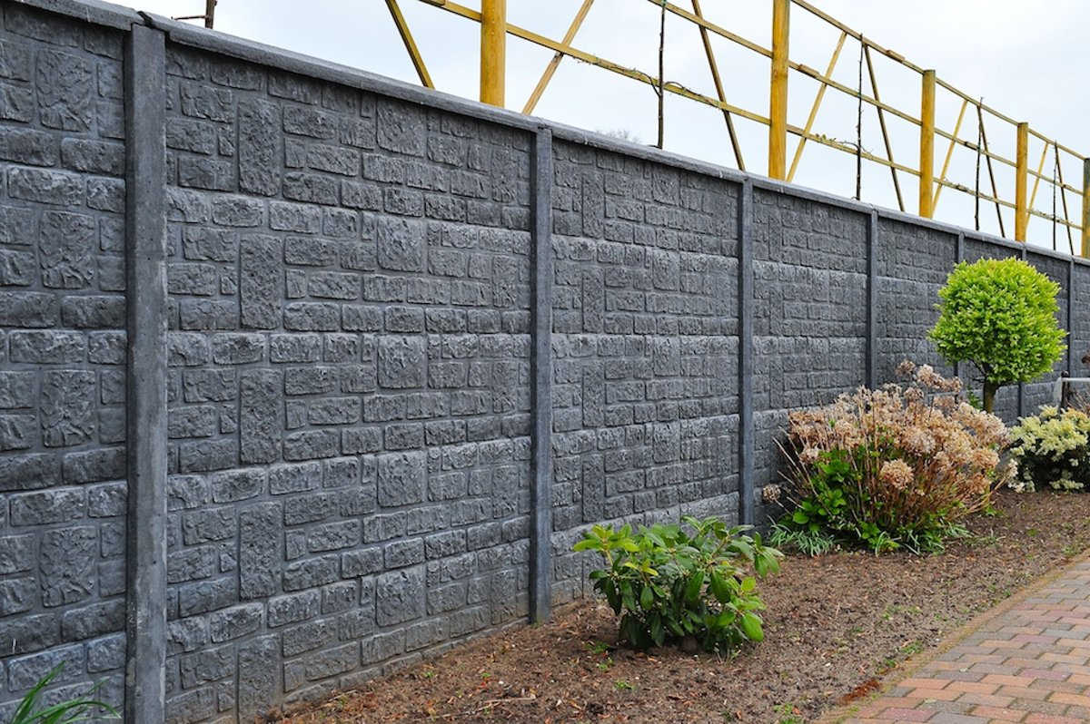 Intergard betonschutting - brickstone enkel 200x193cm kopen