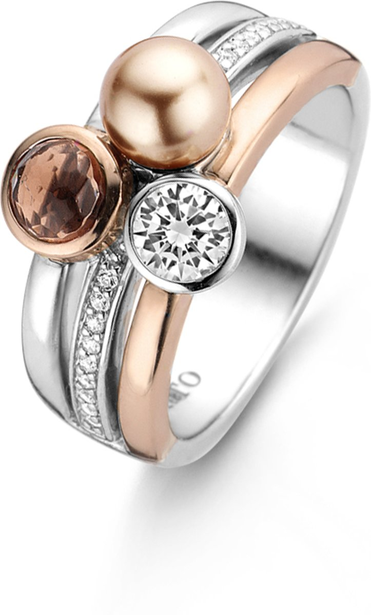 TI SENTO - Milano Ring 12137PR - gerhodineerd zilver kopen