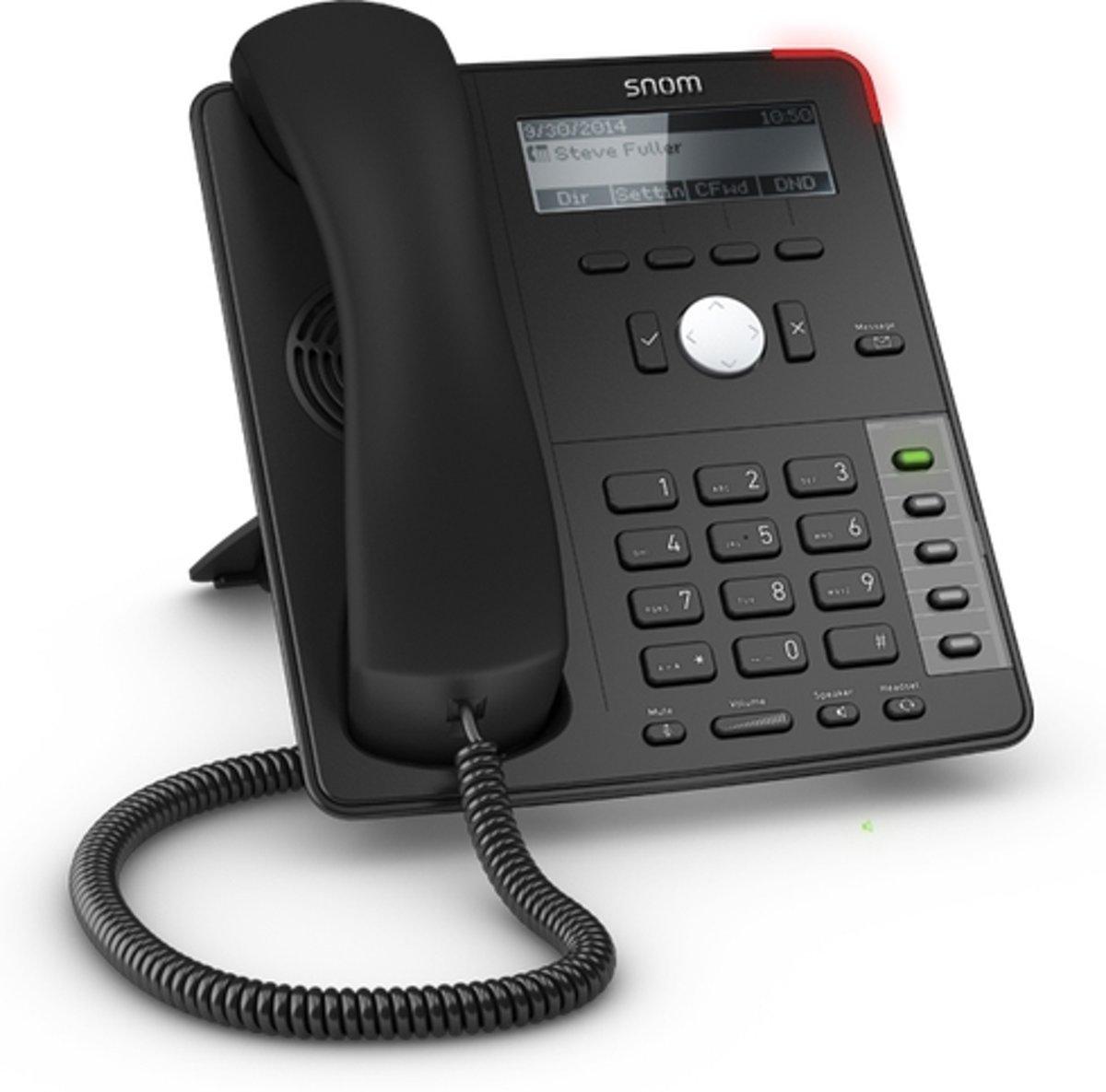 Snom D712 IP telefoon Zwart Handset met snoer 4 regels kopen