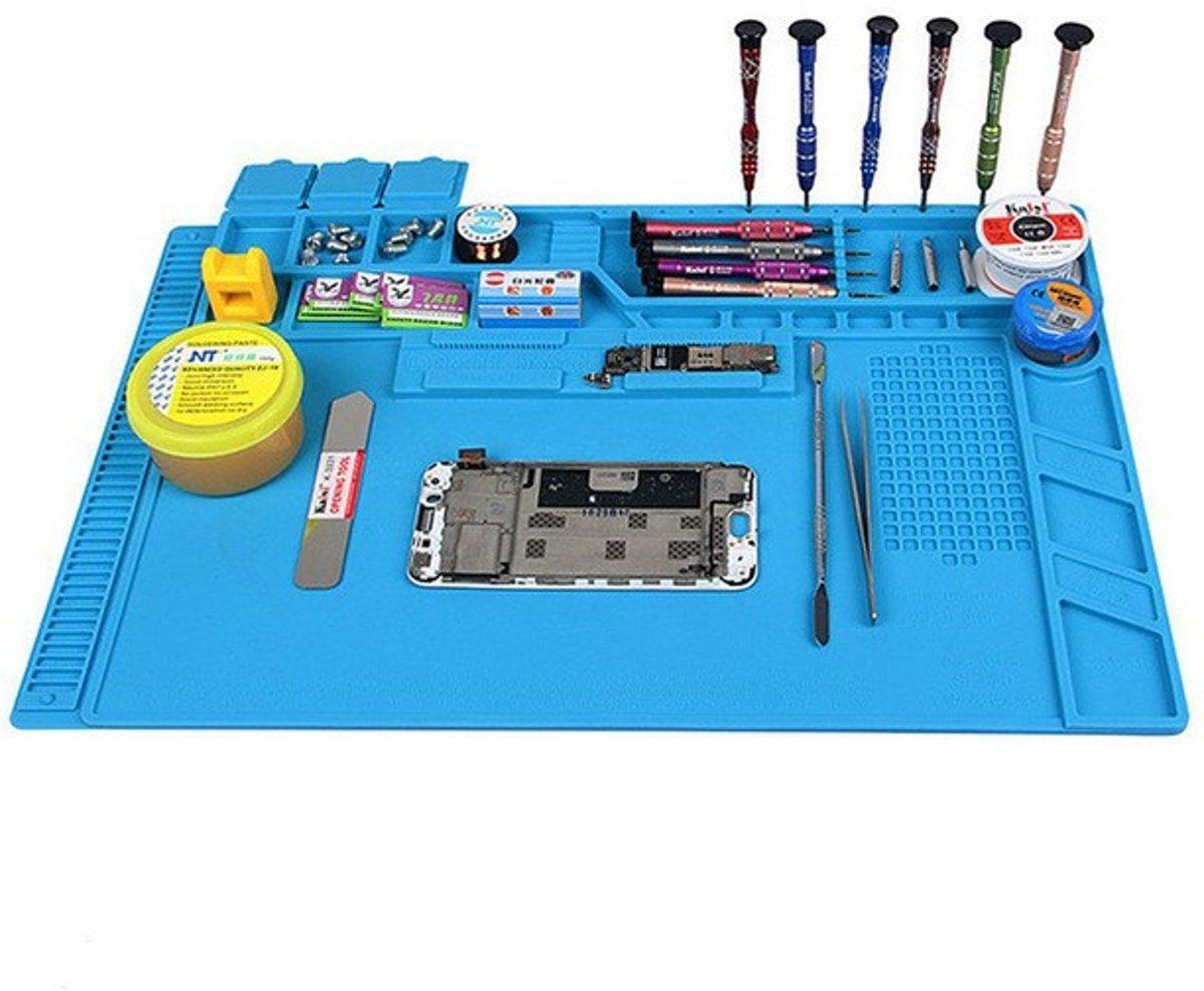 Reparatie Mat / Hittebestendig tot 500 Graden / Telefoon Reparatie / Siliconen Repair Mat / Horloge Reparatie  / Hete lucht- met kleine vakjes. 30x40cm kopen