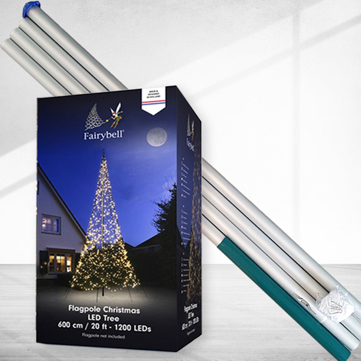 Fairybell 1200 Led incl 6 meter vlaggenmast aluminium kopen