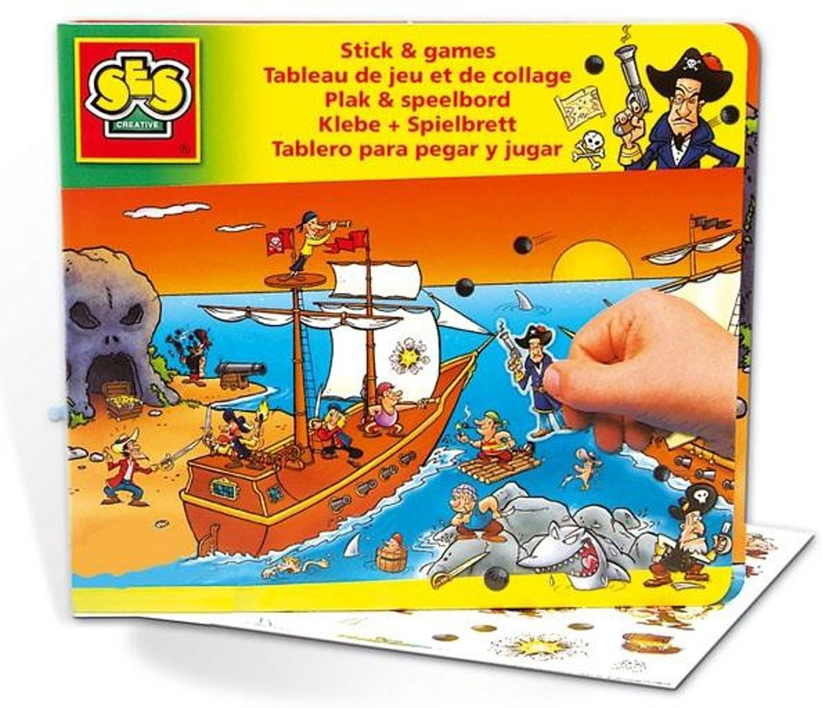 Plak & speelbord piraat