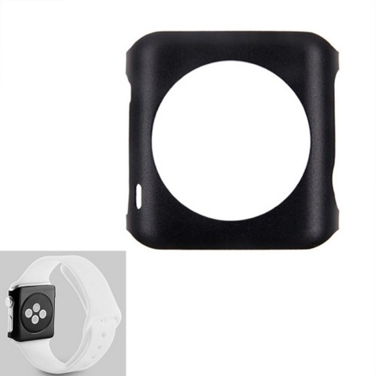 Apple Watch 38mm - hoes, cover, case -  Aluminium - Zwart kopen