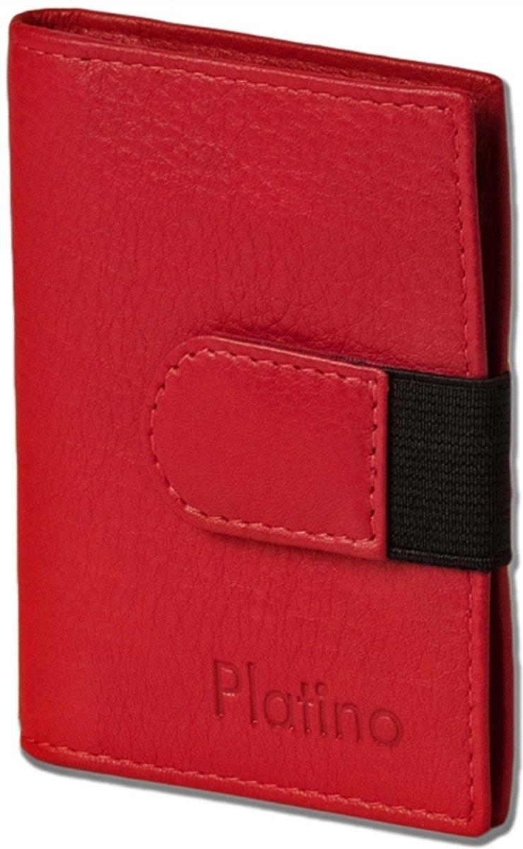 Platino Luxe Creditcardetui voor 20 pasjes - Leer - Rood kopen