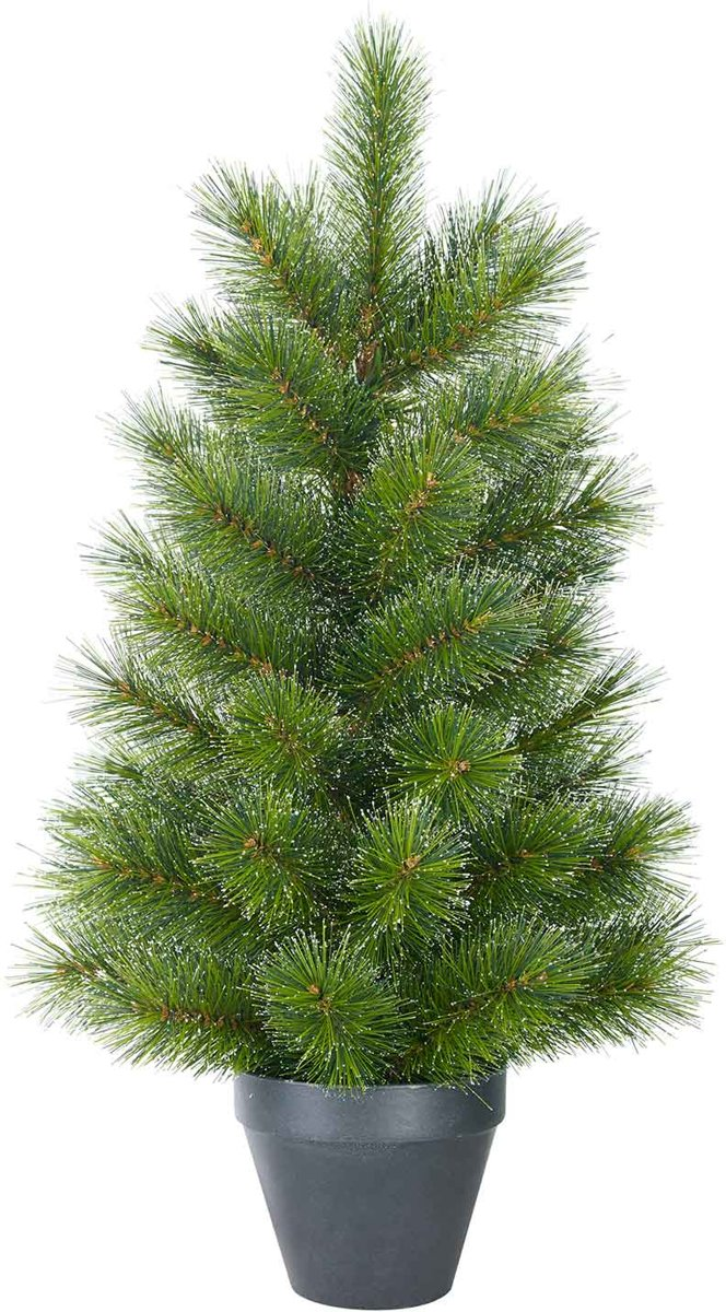 Black Box glendon kunstkerstboom in pot groen maat in cm: 60 x 33 kopen
