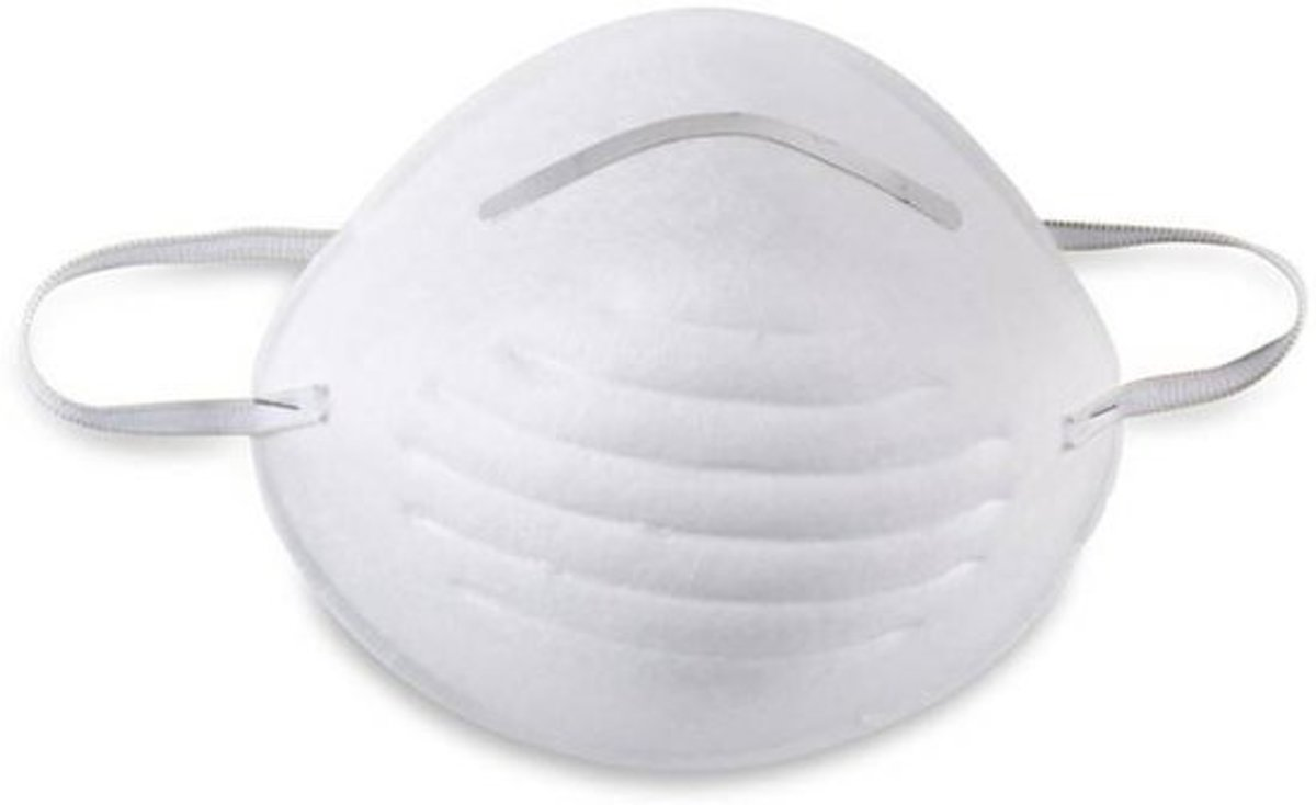 Vuilmasker - Stofmasker - Mondkapje - Schuurmasker - Hygiënemasker - Spuitmasker - met aluminium neusclip (9 stuks) kopen