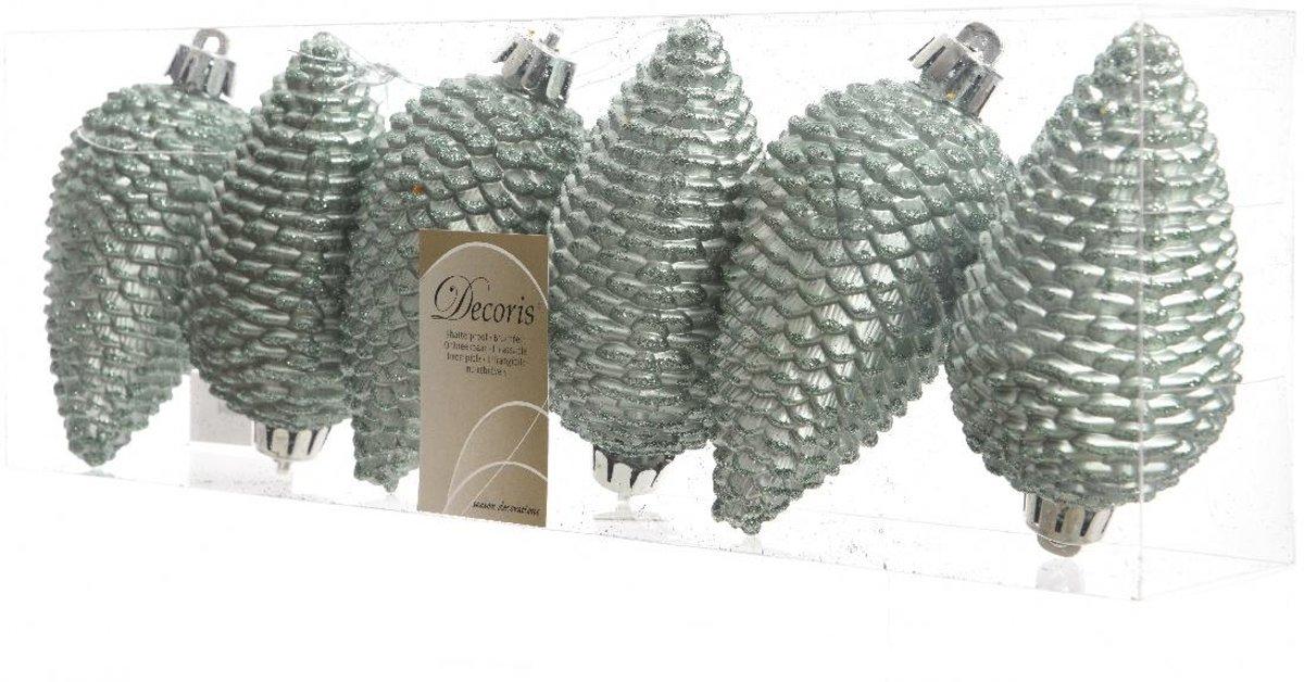Dennenappels Glitter (8cm) Multi 6 Stuks Eucalyptus kopen