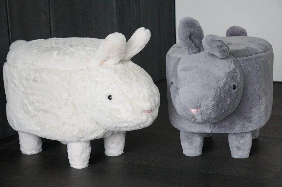 Pouf/stoeltje konijn wit kopen