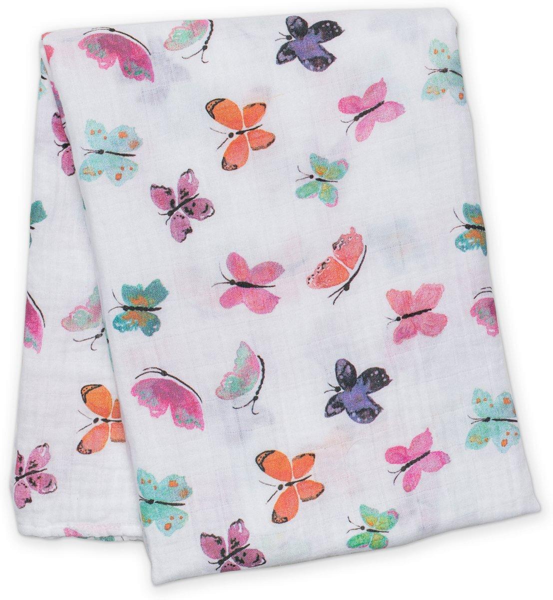 Lulujo swaddle 120x120 - Butterfly