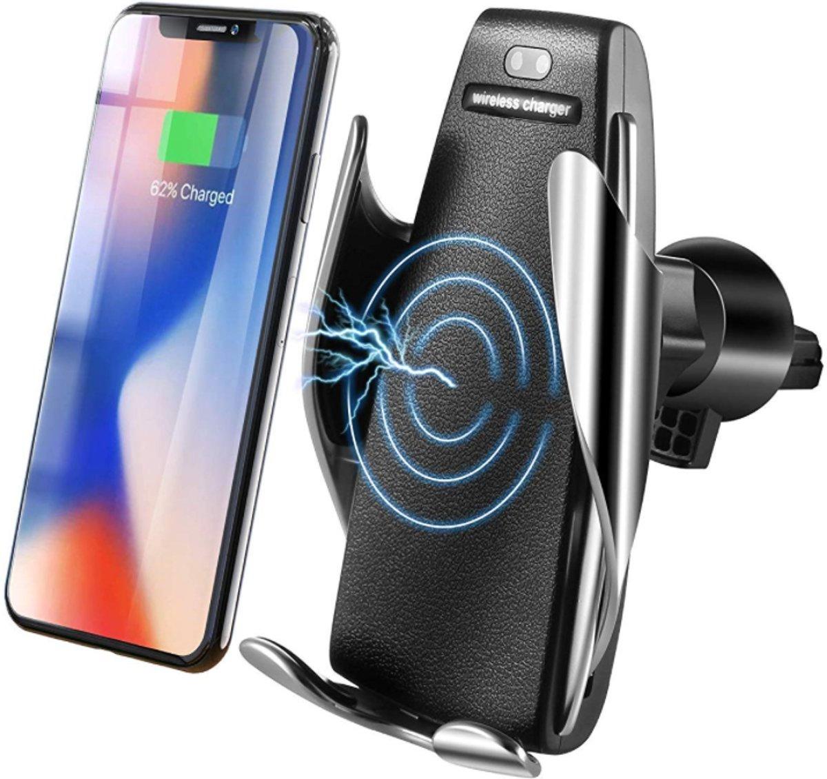 Point of View - Draadloze oplader and automatisch telefoonhouder  in de auto,  Voor Iphone 8, 8+, X series, Samsung S8, S8+ S9 , NOTE 8 etc kopen