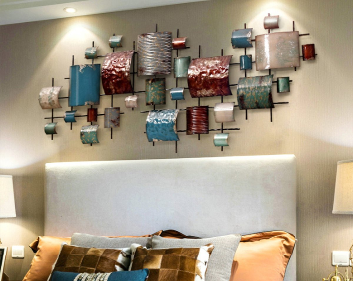 Bol.com goed ye® grote 3d metaal schilderij wanddecoratie