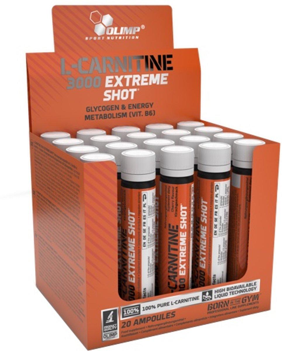 L-Carnitine Extreme Shot 20ampullen Orange kopen