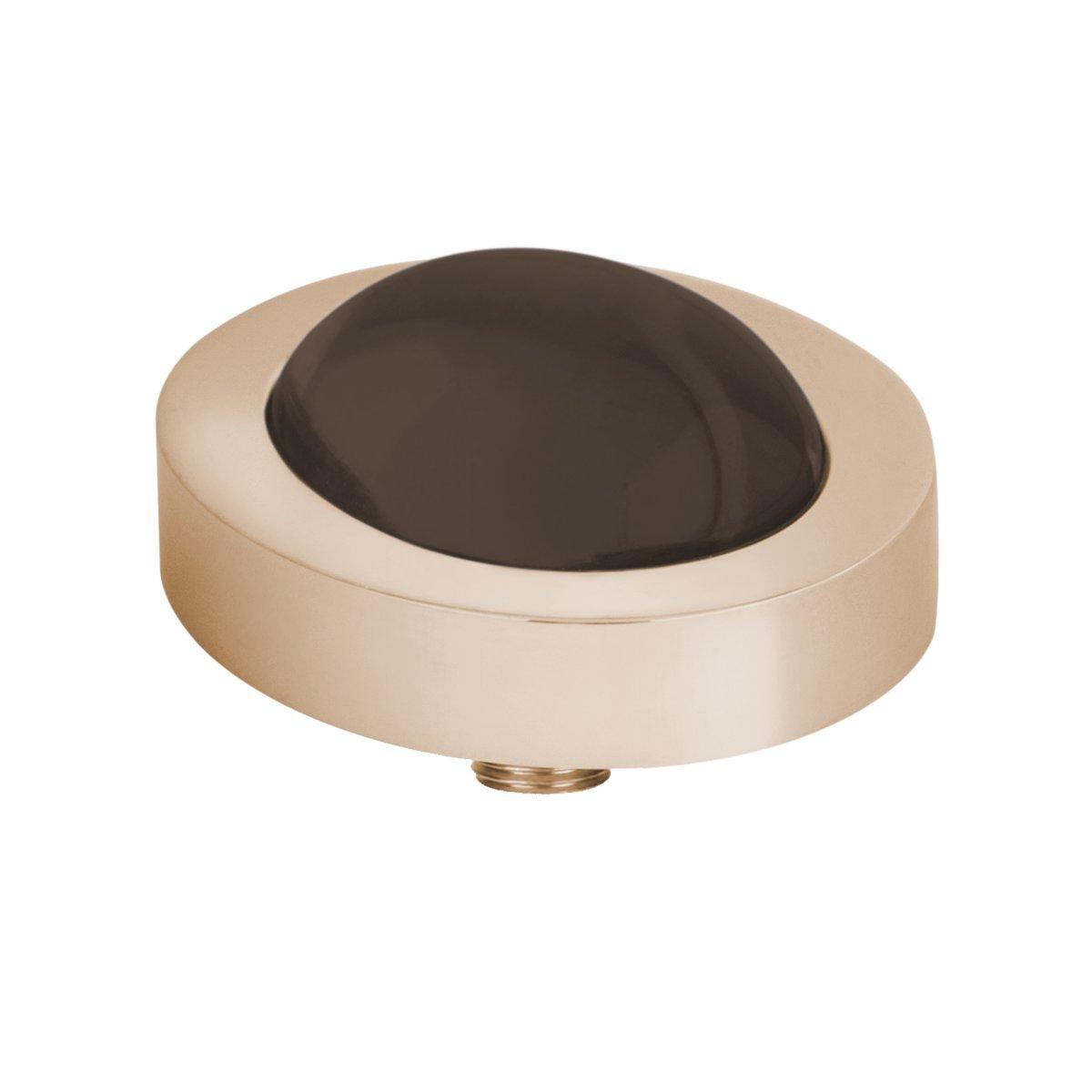 Melano vivid oval steentje - coffee - dames - rosekleurig - 10 mm kopen