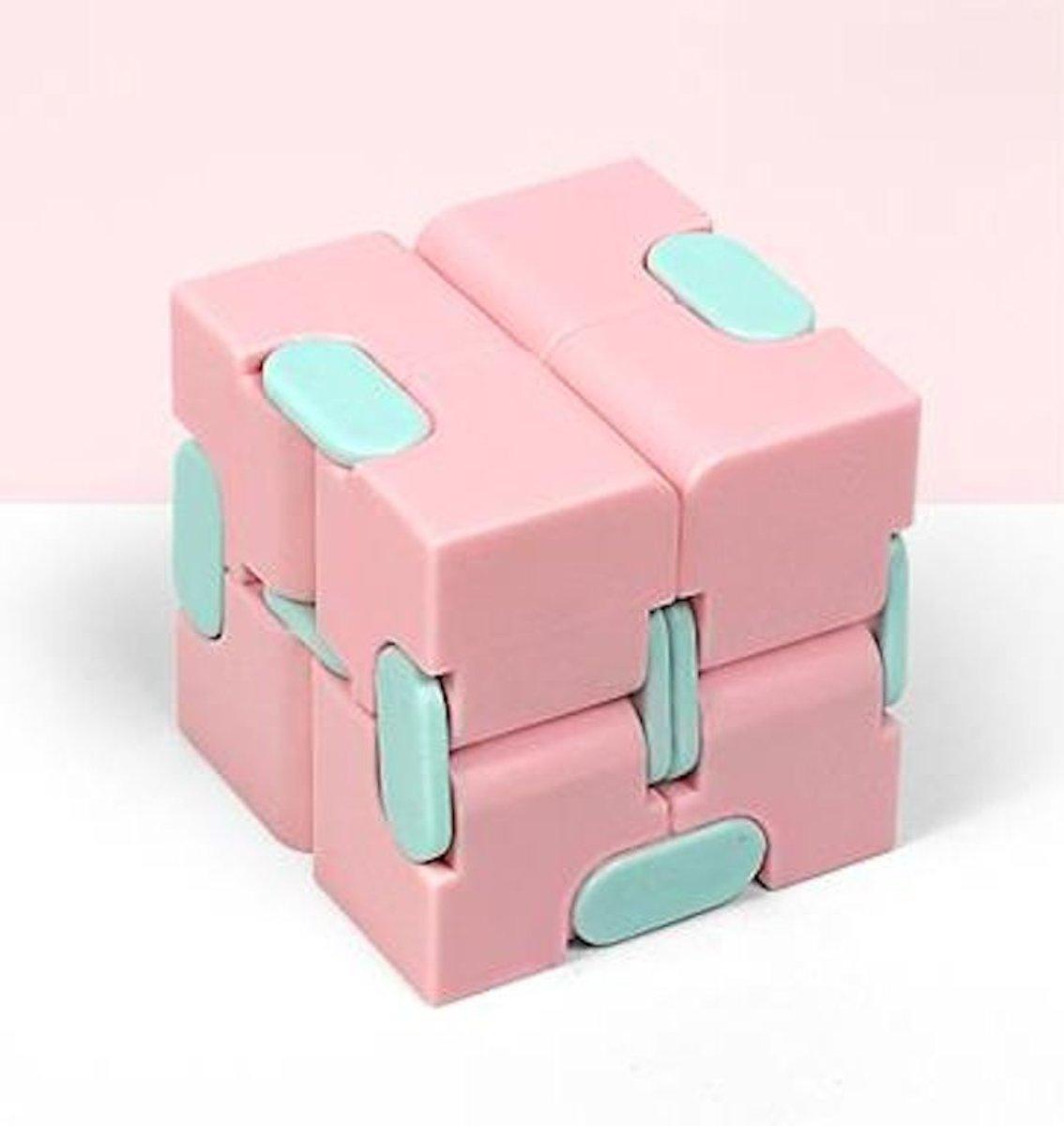 Fidget Kubus Infinity Cube Magic Finger Spinner   Friemelkubus   Roze