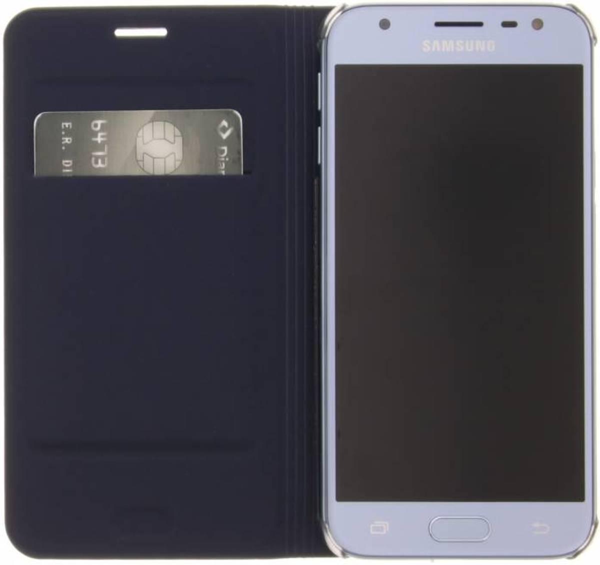 Cuir De Luxe Bleu Foncé Boîtier De Type Livre Pour Samsung Galaxy J3 (2017) pOolCIm