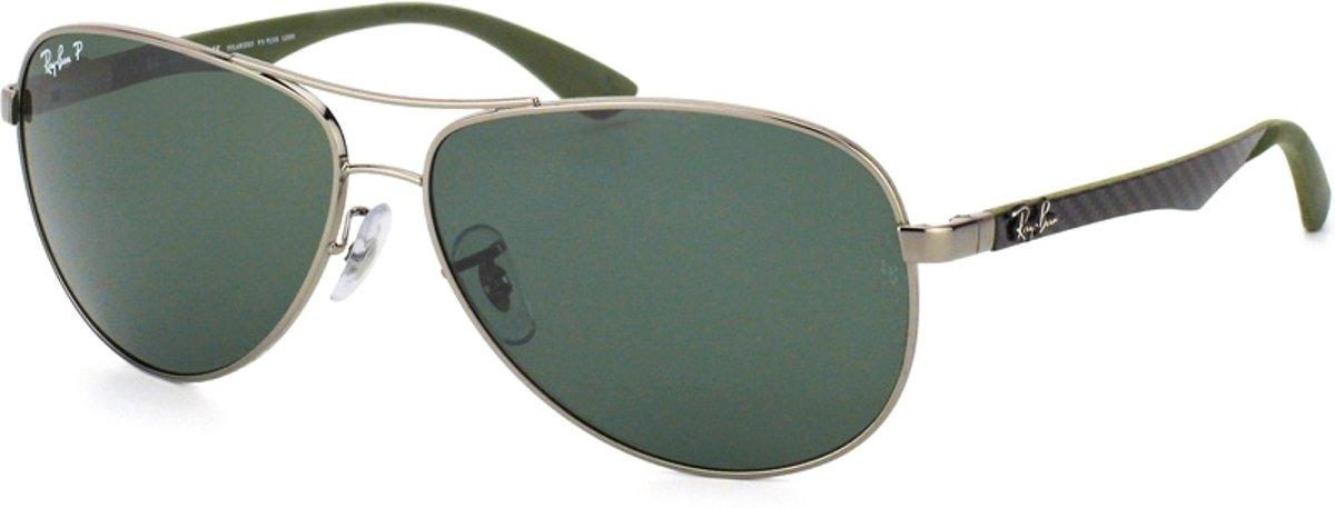 Ray-Ban RB8313 004/N5 - zonnebril - Carbon Fibre - Staalgrijs / Groen Klassiek G-15 - Polarized - 61mm kopen