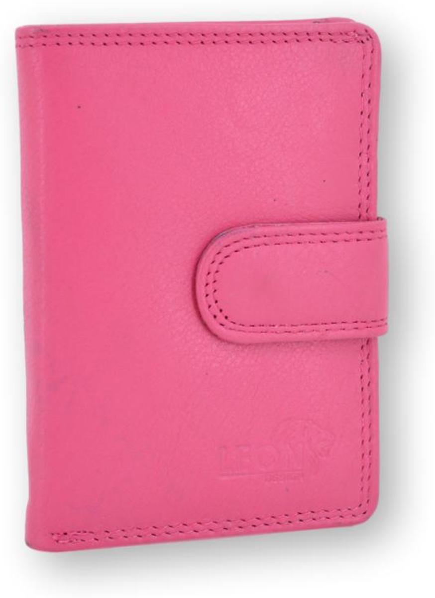 LeonDesign - 16-CC1506-29 - roze - mapje voor pasjes - leer kopen